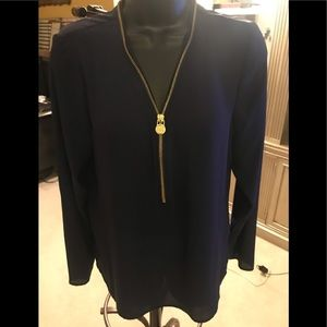 Navy blue top by Michael Kors size M